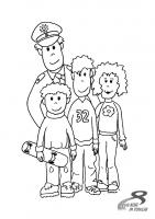 Polizist und Kinder